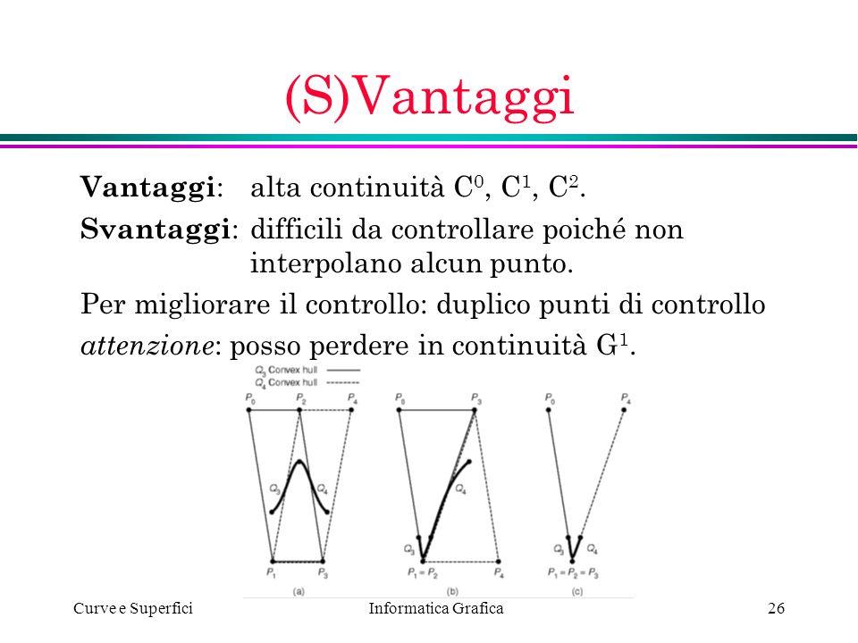 (S)Vantaggi Vantaggi: alta continuità C0, C1, C2.