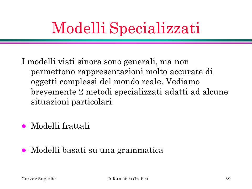 Modelli Specializzati
