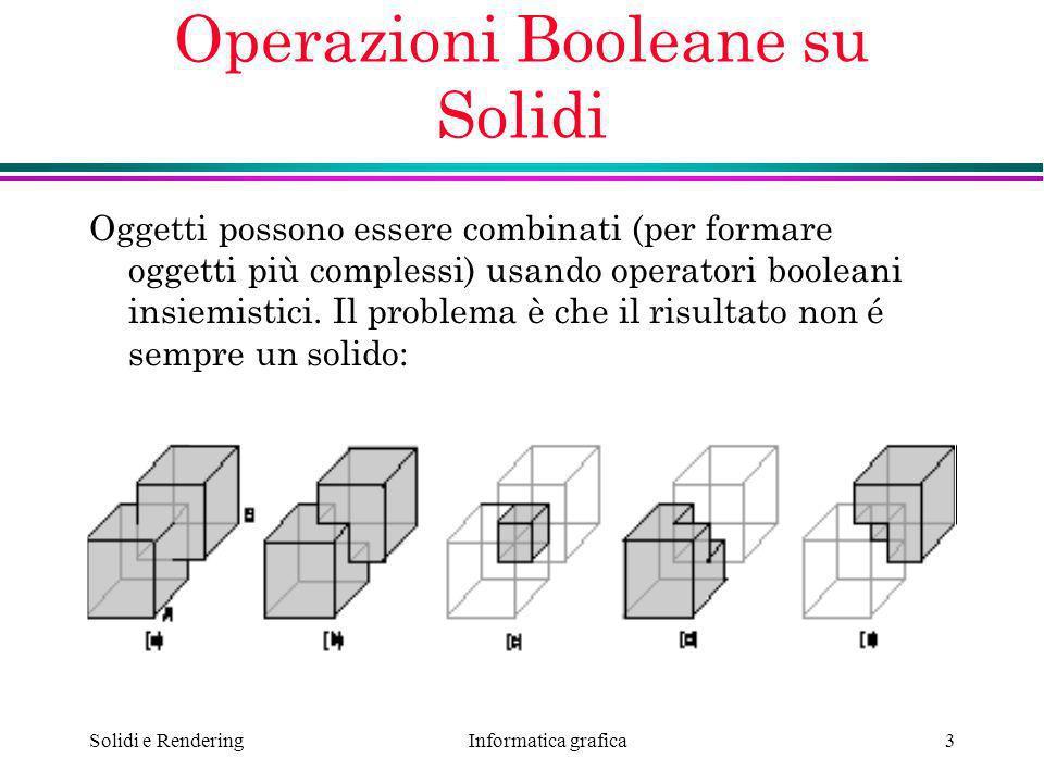 Operazioni Booleane su Solidi