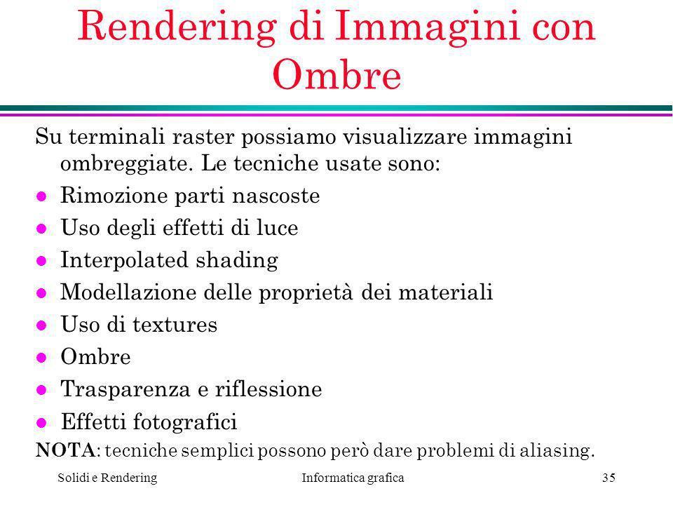 Rendering di Immagini con Ombre