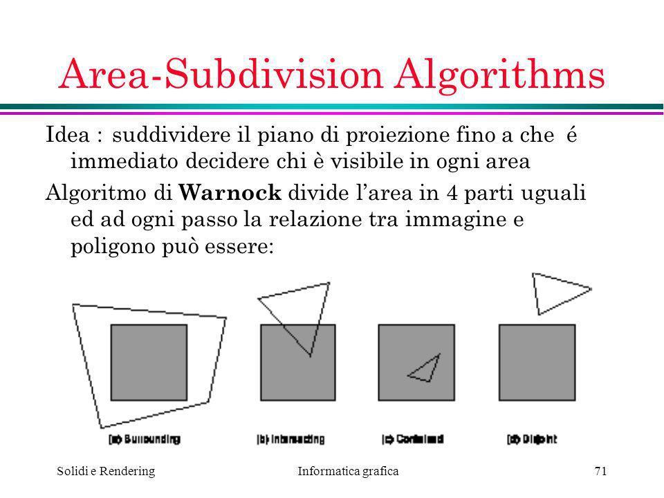 Area-Subdivision Algorithms