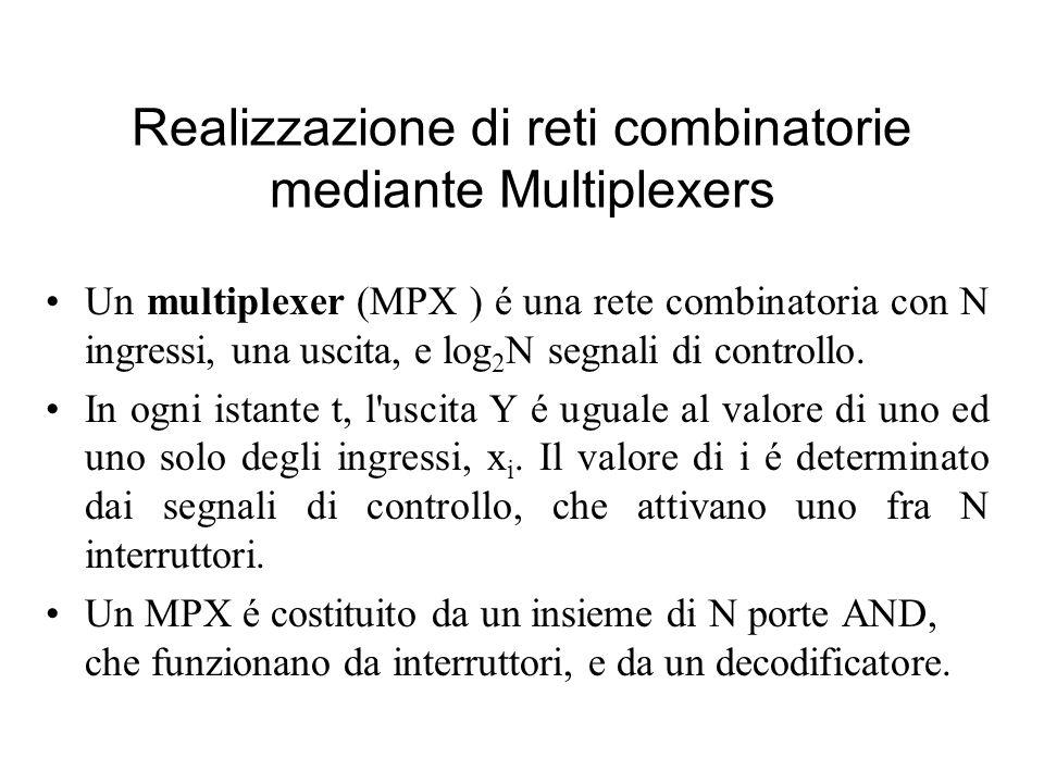 Realizzazione di reti combinatorie mediante Multiplexers