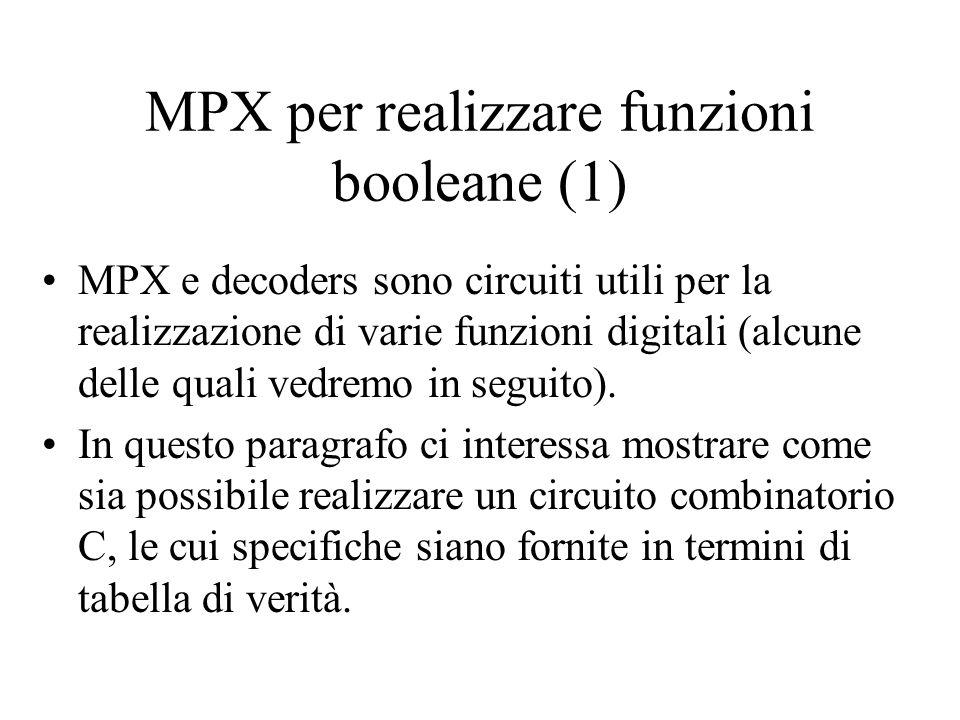 MPX per realizzare funzioni booleane (1)