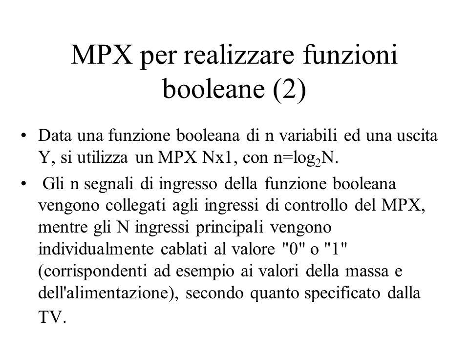 MPX per realizzare funzioni booleane (2)