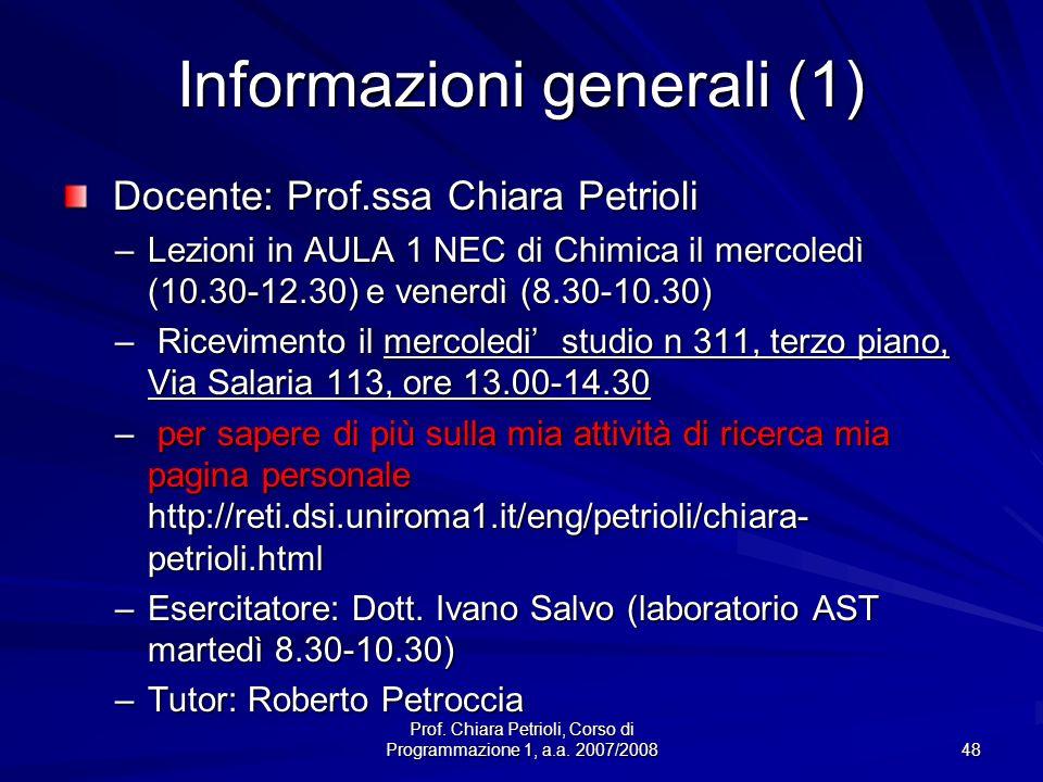 Informazioni generali (1)