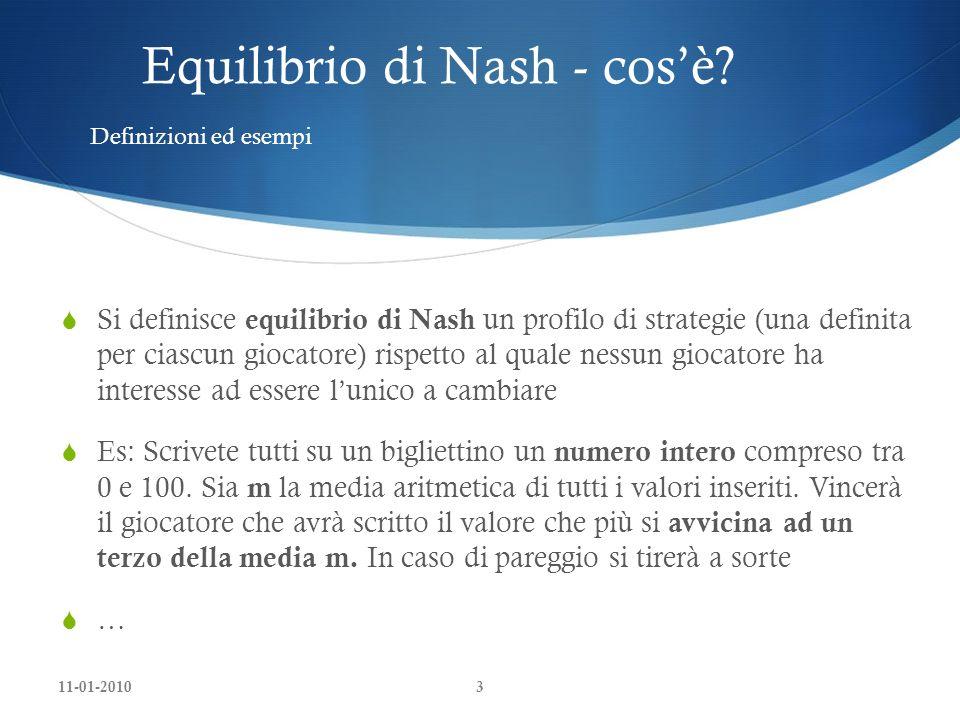 Equilibrio di Nash - cos'è