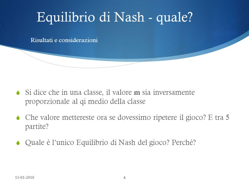 Equilibrio di Nash - quale