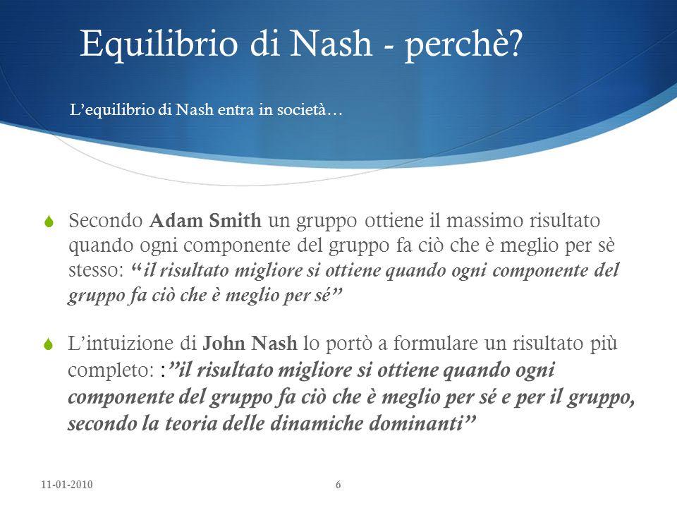 Equilibrio di Nash - perchè