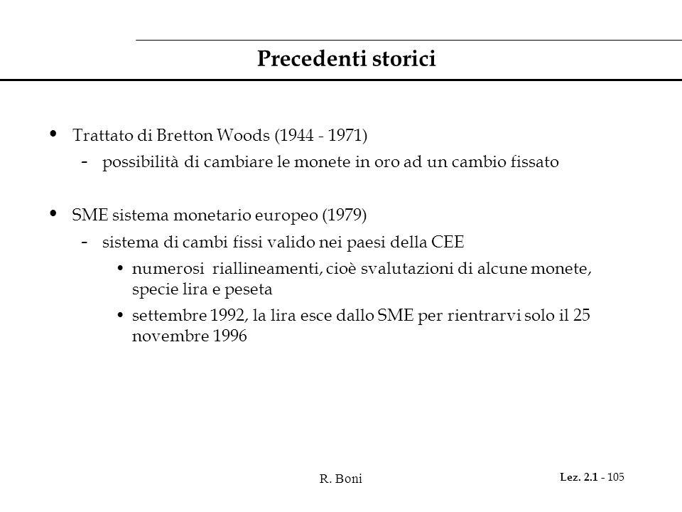 Precedenti storici Trattato di Bretton Woods (1944 - 1971)