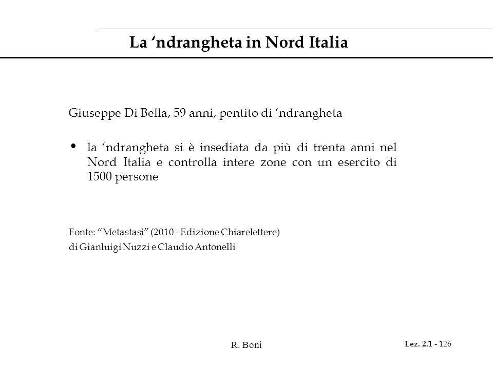 La 'ndrangheta in Nord Italia