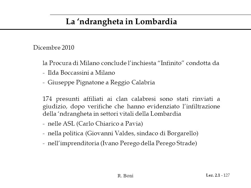 La 'ndrangheta in Lombardia