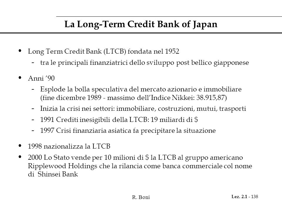 La Long-Term Credit Bank of Japan