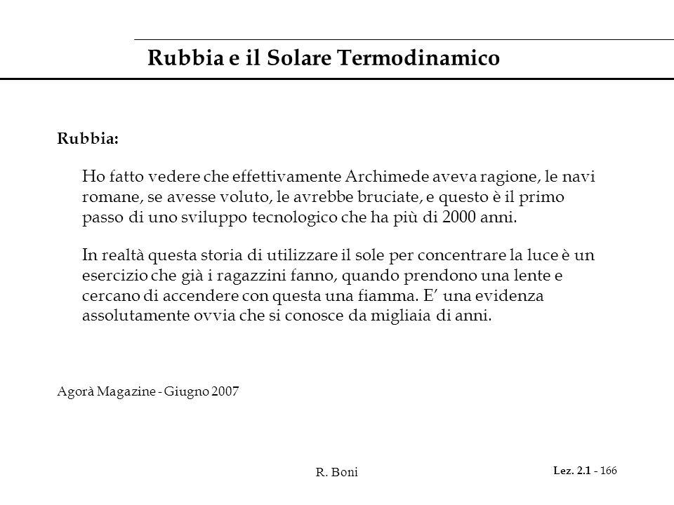 Rubbia e il Solare Termodinamico
