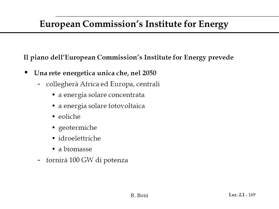 European Commission's Institute for Energy