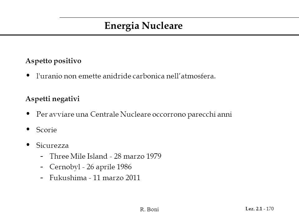 Energia Nucleare Aspetto positivo