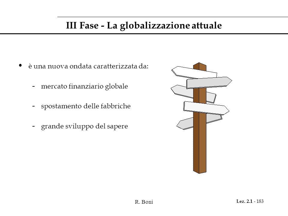 III Fase - La globalizzazione attuale