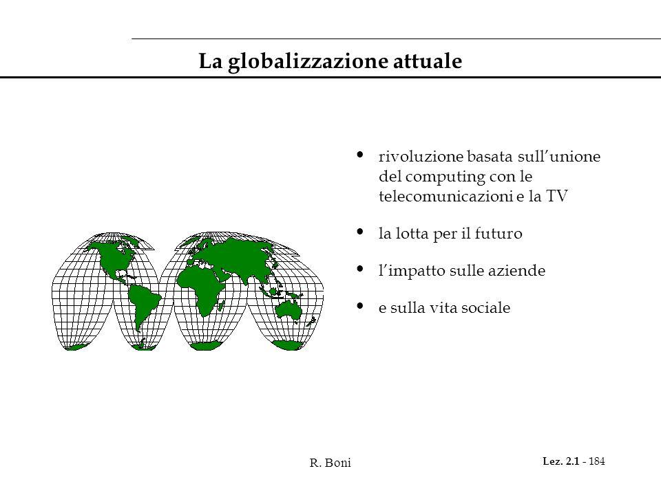 La globalizzazione attuale