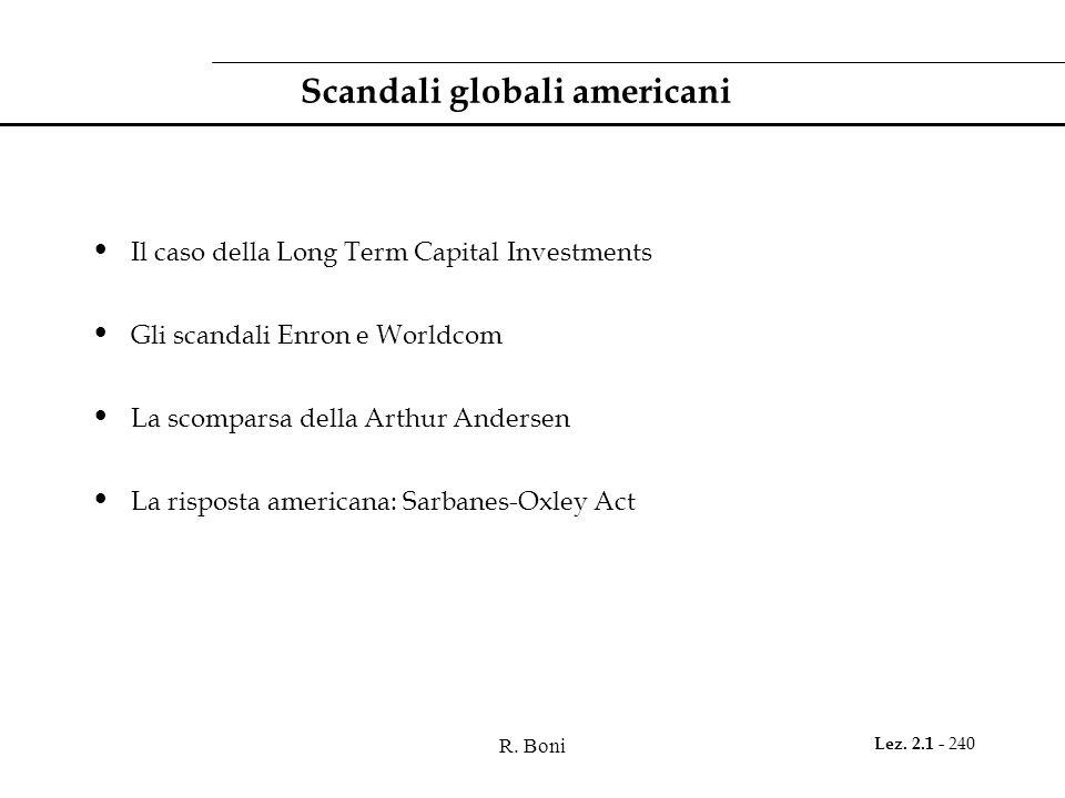 Scandali globali americani