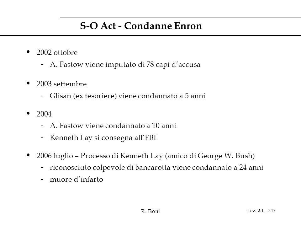 S-O Act - Condanne Enron