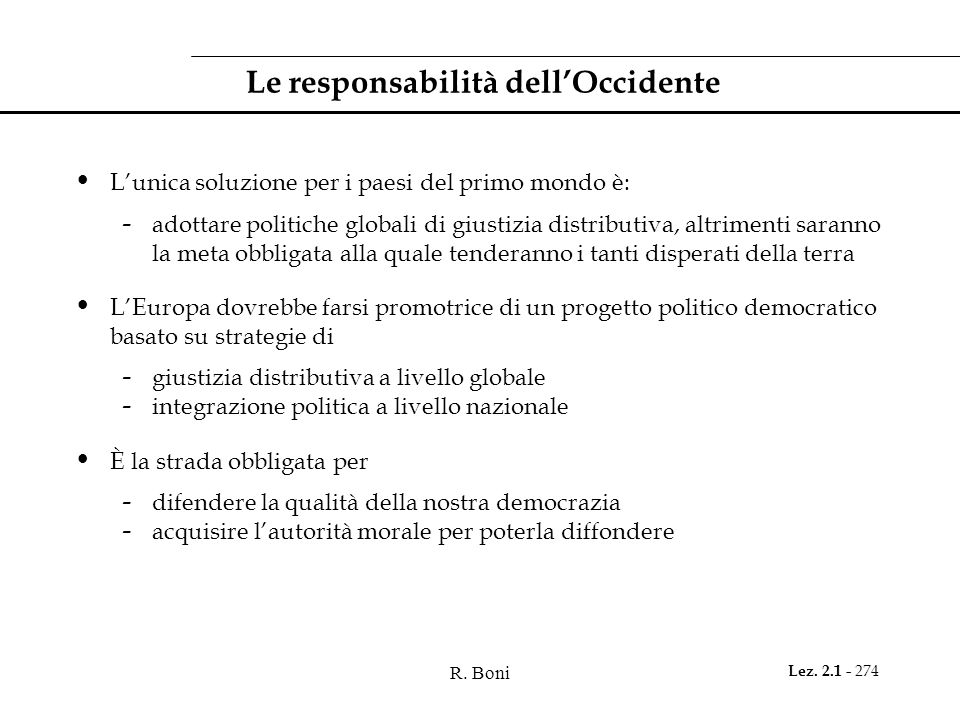 Le responsabilità dell'Occidente