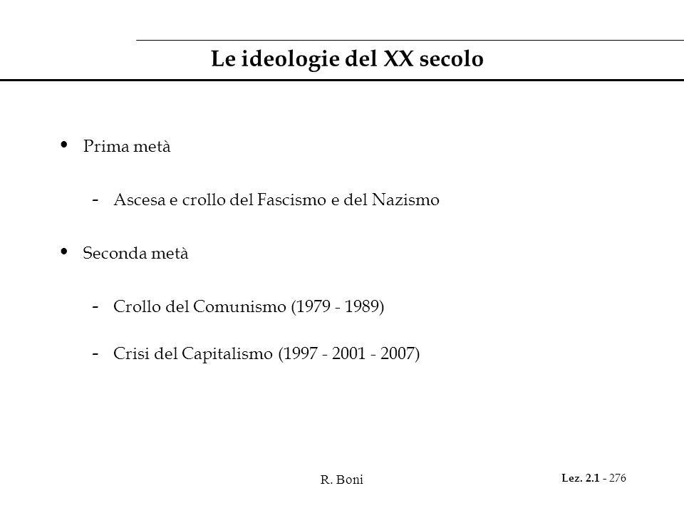 Le ideologie del XX secolo