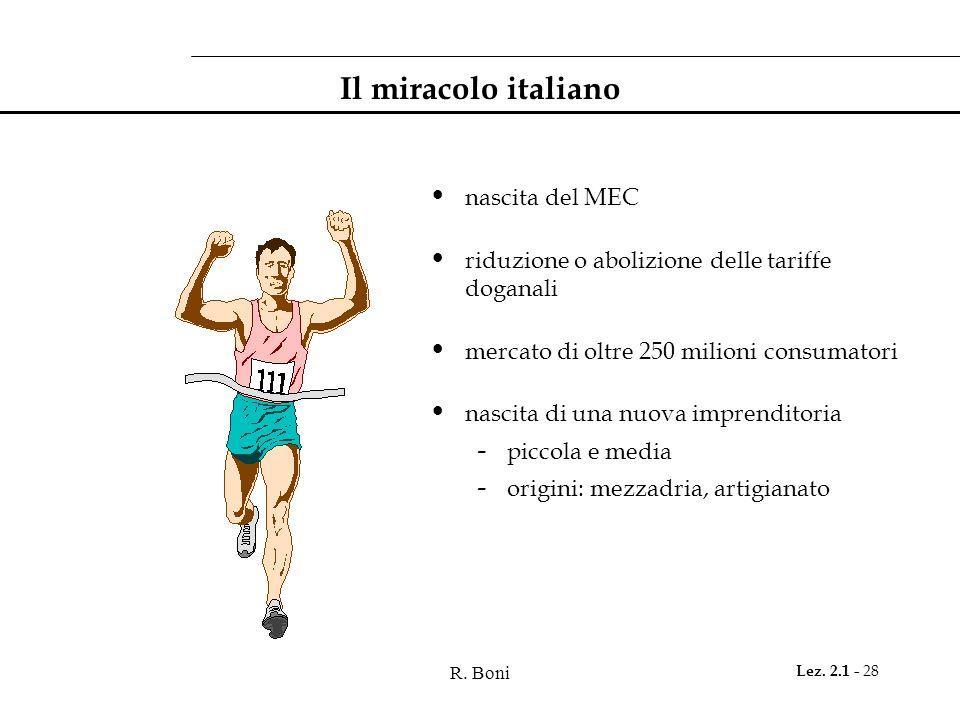 Il miracolo italiano nascita del MEC