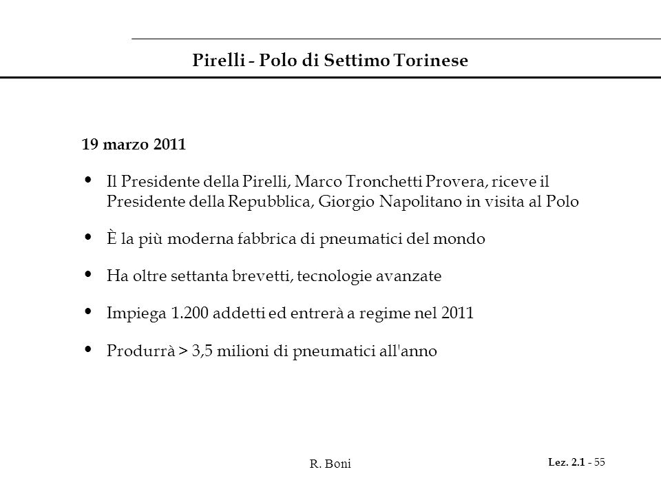 Pirelli - Polo di Settimo Torinese