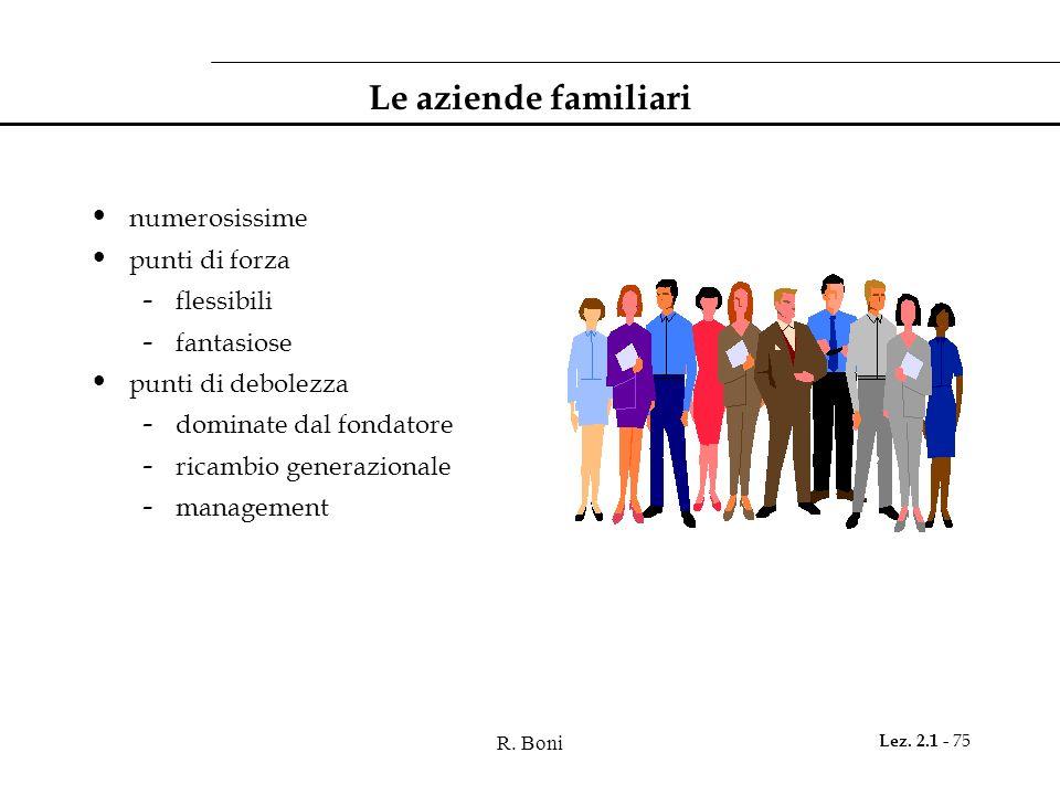 Le aziende familiari numerosissime punti di forza flessibili