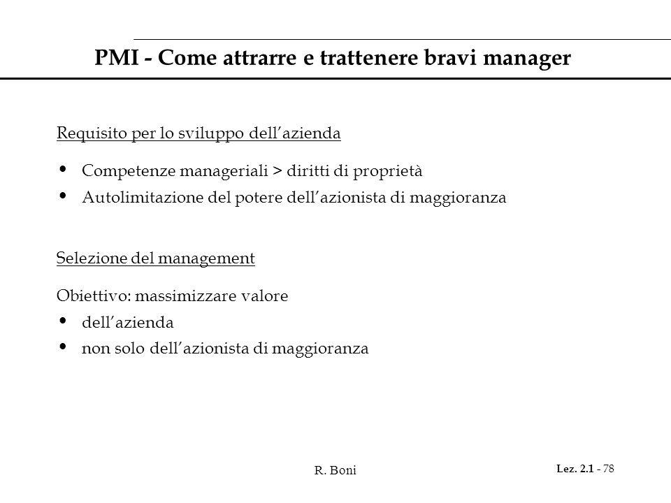 PMI - Come attrarre e trattenere bravi manager