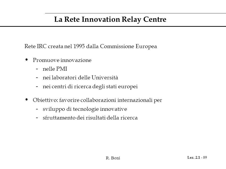 La Rete Innovation Relay Centre