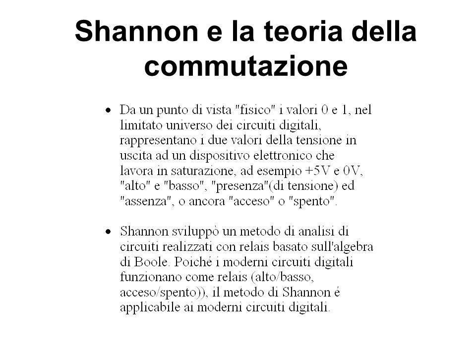 Shannon e la teoria della commutazione