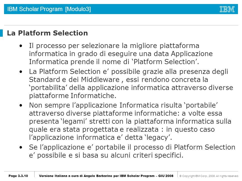 La Platform Selection