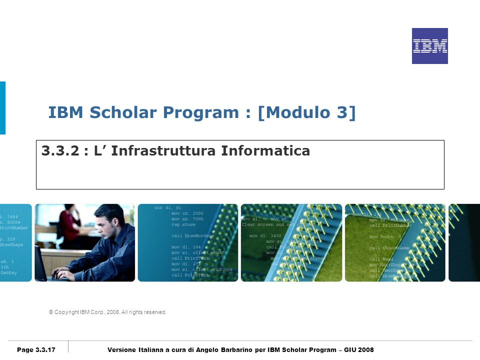 3.3.2 : L' Infrastruttura Informatica