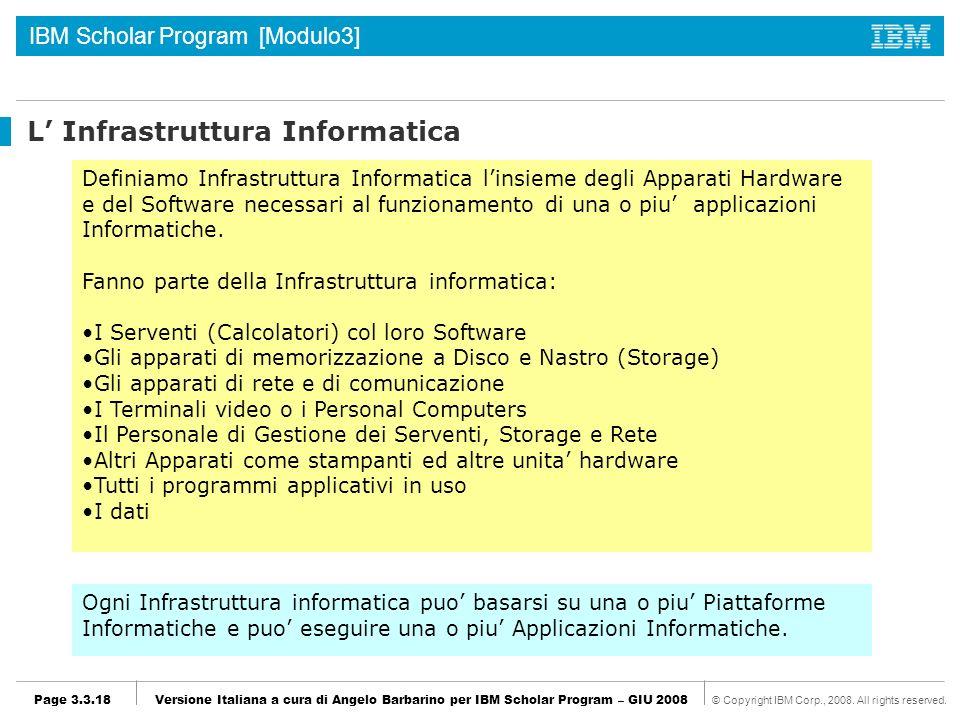 L' Infrastruttura Informatica