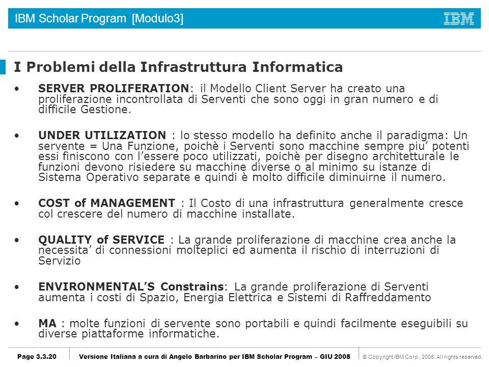 I Problemi della Infrastruttura Informatica