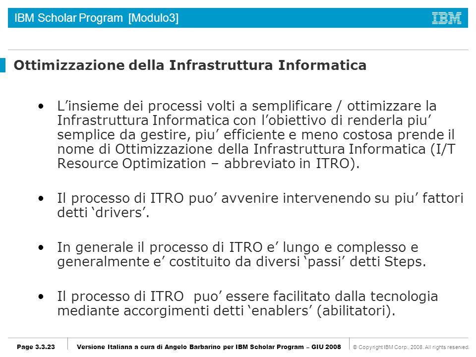 Ottimizzazione della Infrastruttura Informatica