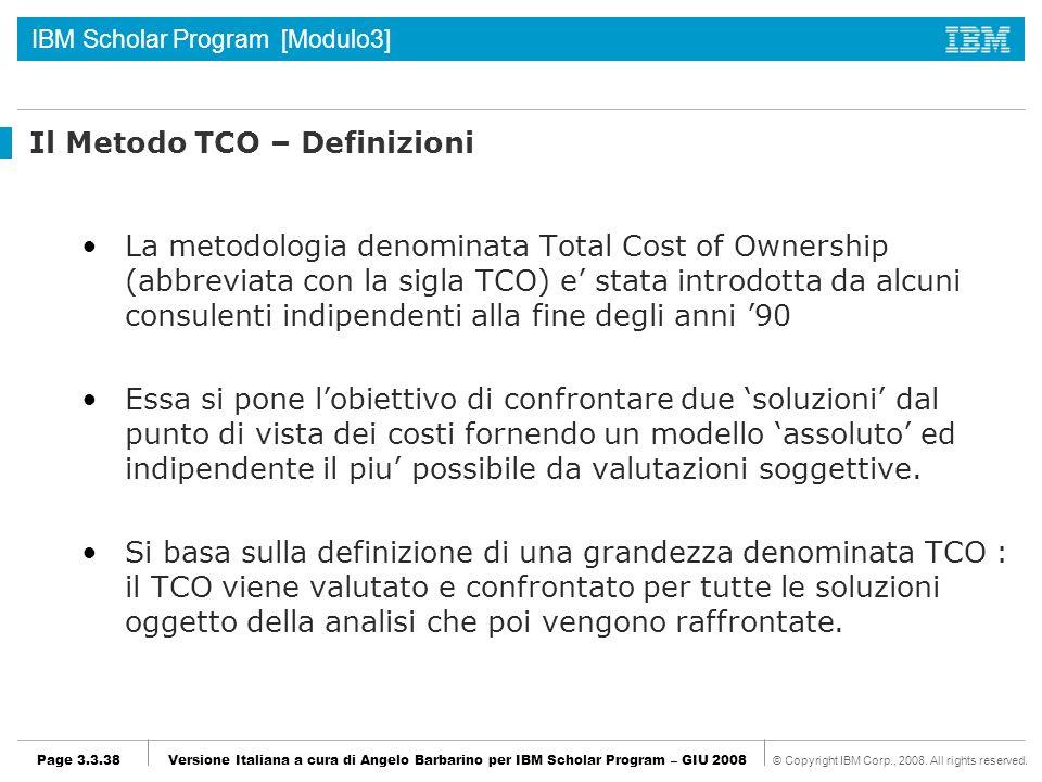 Il Metodo TCO – Definizioni