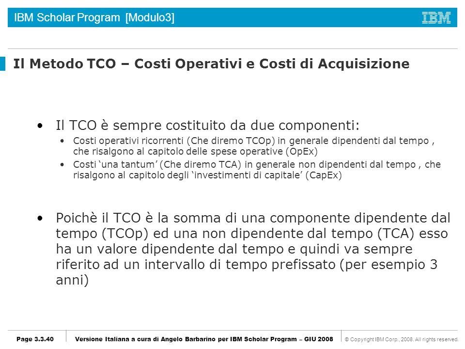 Il Metodo TCO – Costi Operativi e Costi di Acquisizione