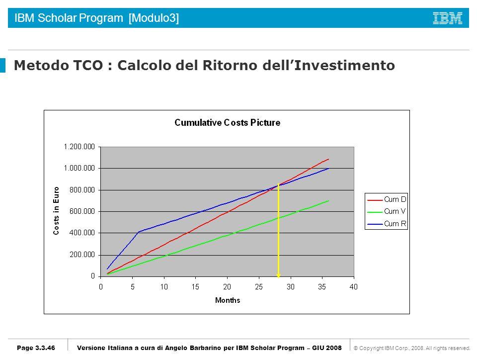 Metodo TCO : Calcolo del Ritorno dell'Investimento