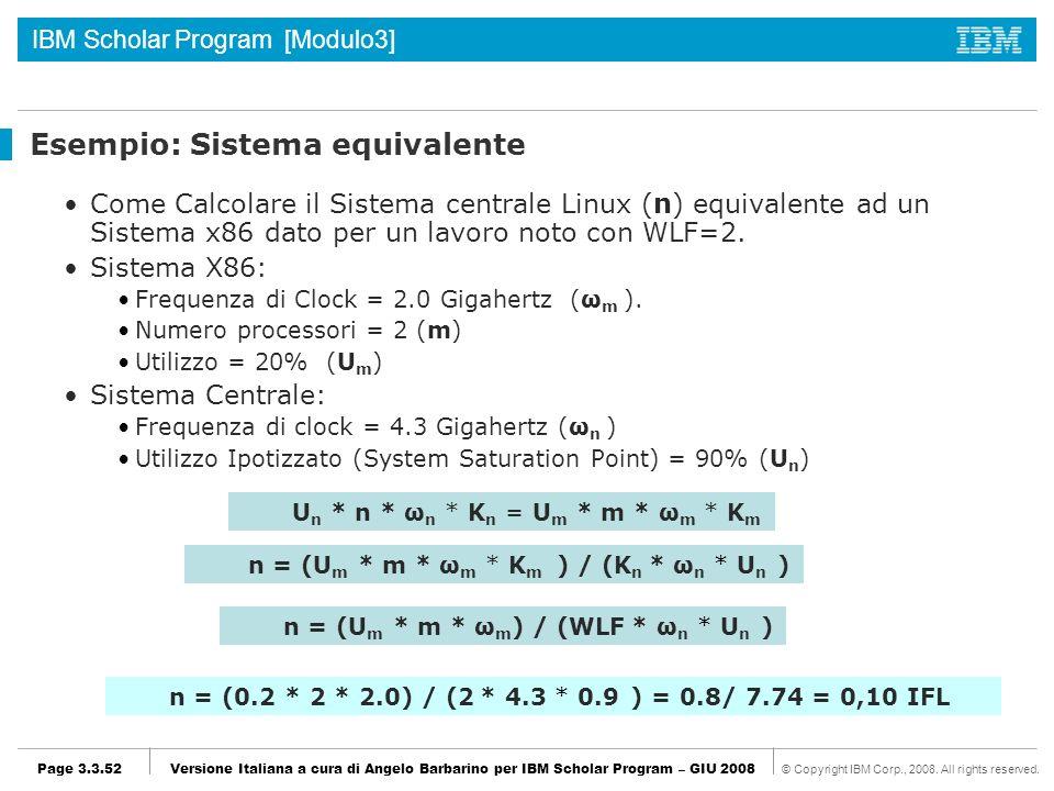 Esempio: Sistema equivalente