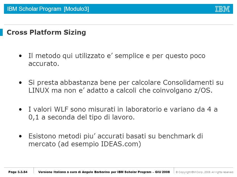 Cross Platform Sizing Il metodo qui utilizzato e' semplice e per questo poco accurato.