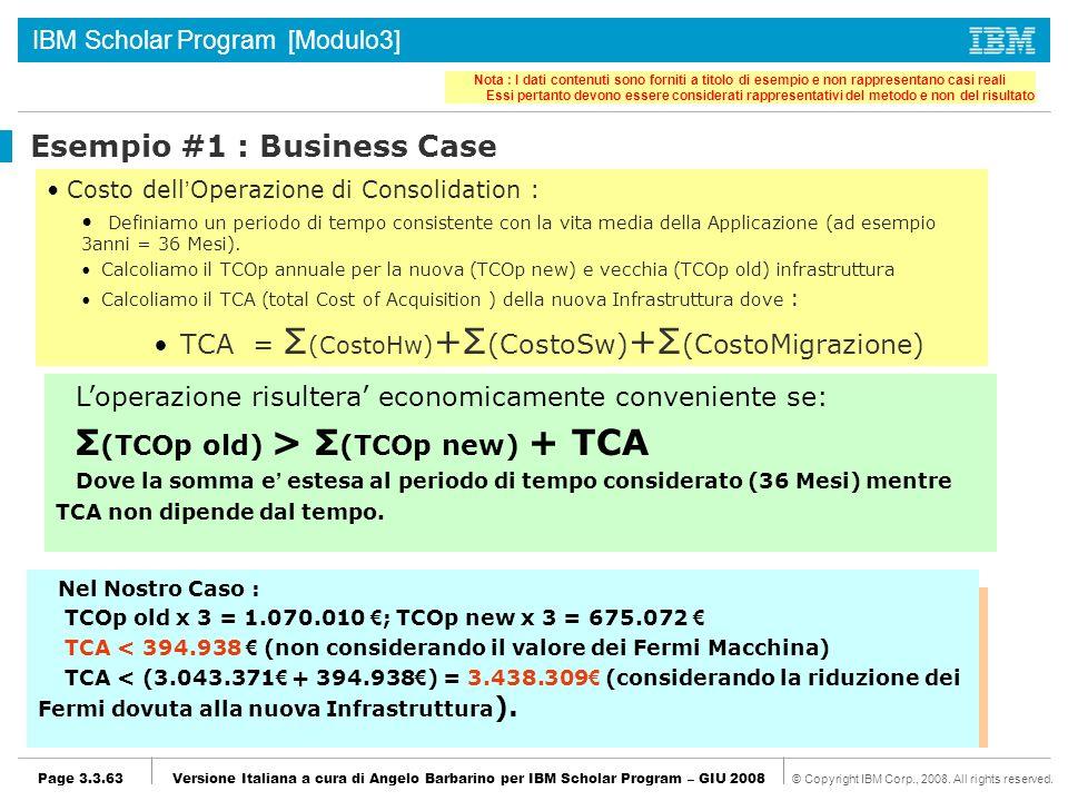 Esempio #1 : Business Case
