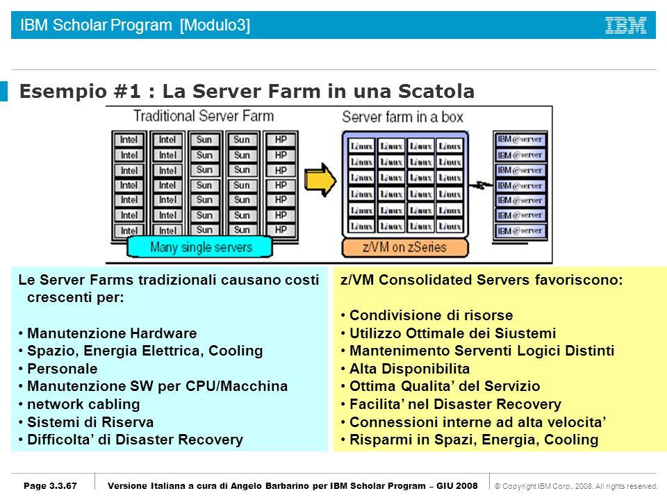 Esempio #1 : La Server Farm in una Scatola