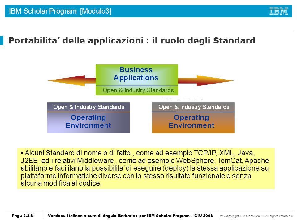 Portabilita' delle applicazioni : il ruolo degli Standard