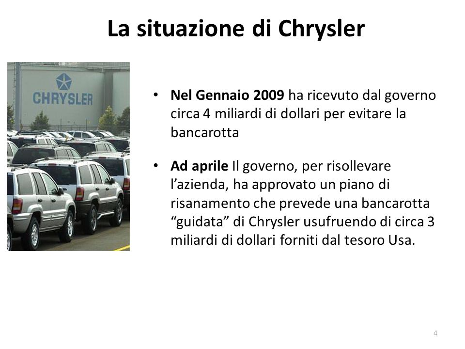 La situazione di Chrysler