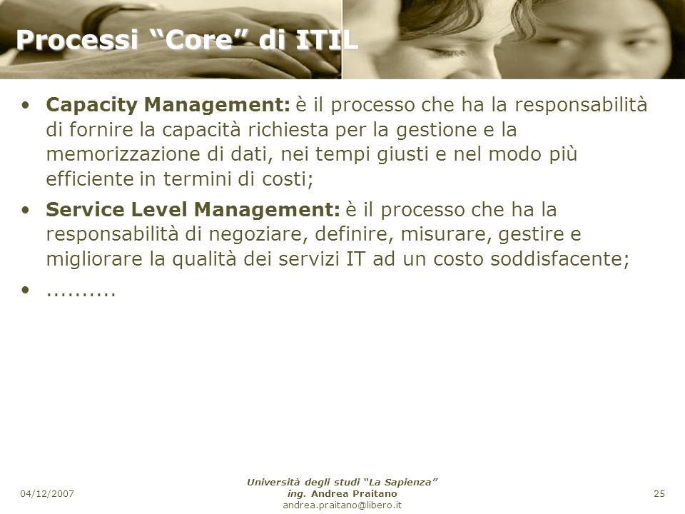Processi Core di ITIL