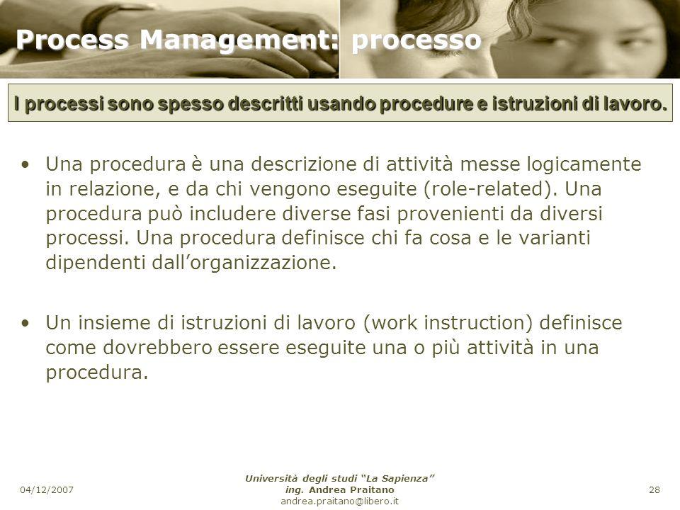 Process Management: processo