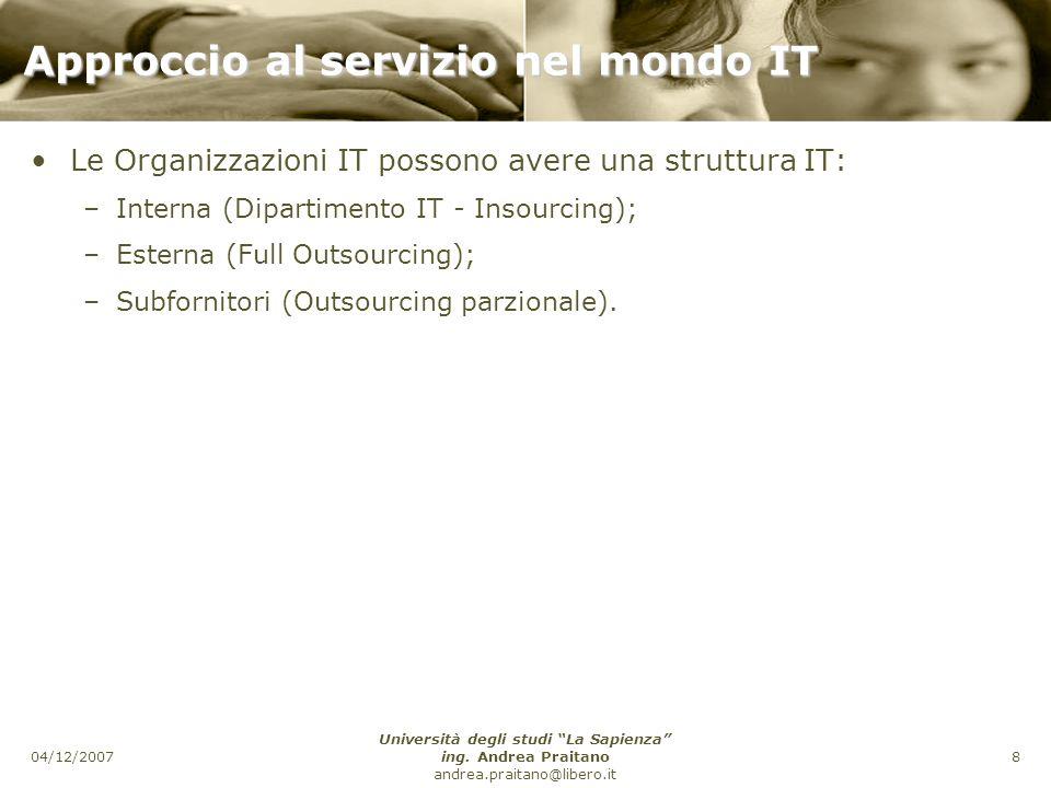 Approccio al servizio nel mondo IT
