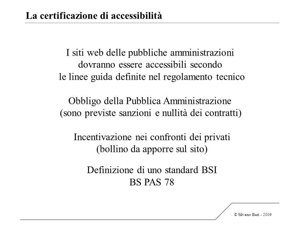 La certificazione di accessibilità
