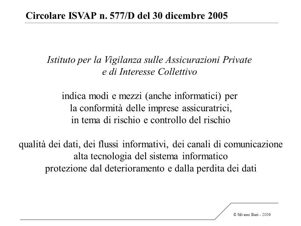 Circolare ISVAP n. 577/D del 30 dicembre 2005